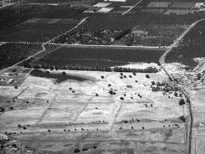 1960s aerial view of future Heather Farm Par