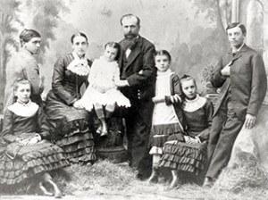 Rancher John Larkey and his family