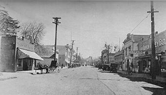 Main Street at Bonanza (looking south) – early 1930s