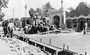 Paving Main Street in 1921