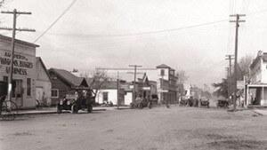 North Main Street traffic, 1913