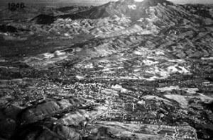 Aerial view of Walnut Creek, 1946