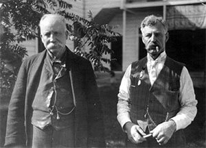 William B. Rogers (left) and son, Walter