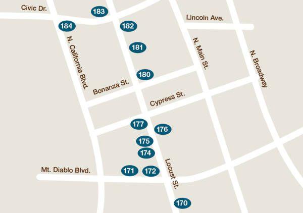 Walnut Creek Downtown Map