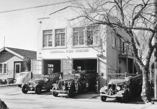 Walnut Creek Ca Fire Station in 1935