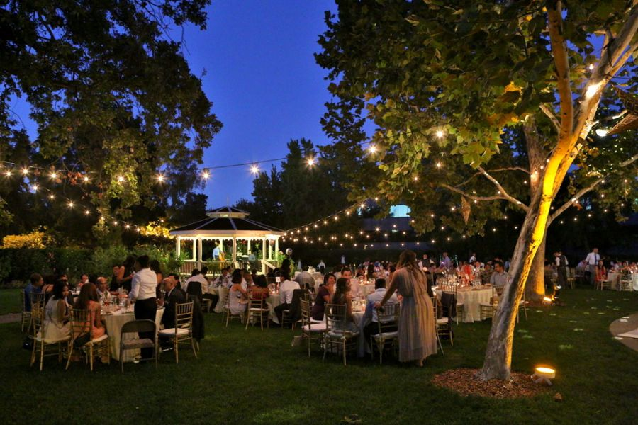 Evening event on the lawn at Shadelands Ranch in Walnut Creek, Ca